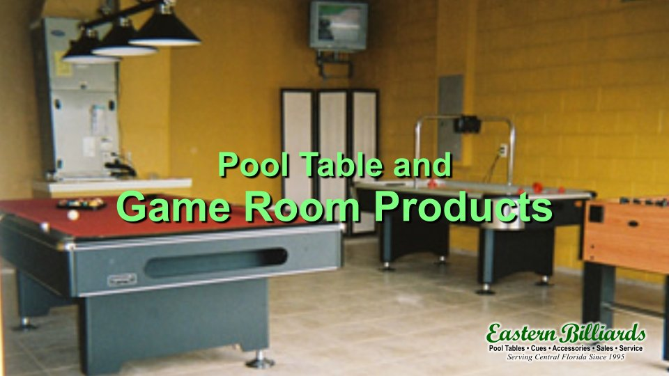 pool table and game room products