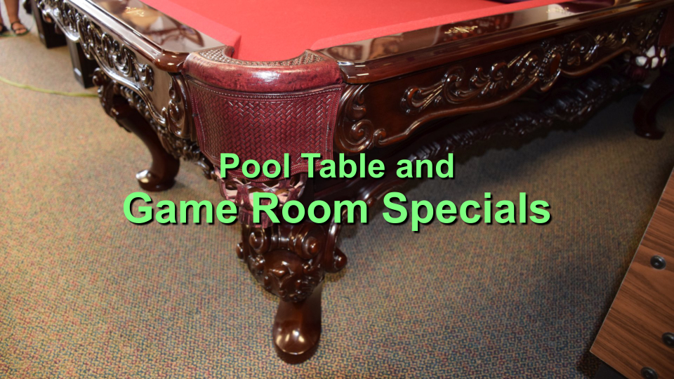 pool table and game room specials